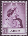 Aden 1949 KGVI Royal Silver Wedding 10r Mauve Mint SG31