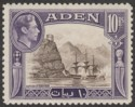 Aden 1939 KGVI Capture of Aden 10r Sepia and Violet Mint SG27