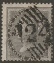 India used Aden 1856 QV 4a Black Fine Used with 124 Aden Postmark SG Z22