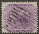 India used Aden 1865 QV 8p Purple Used w part STEAMER POINT 124 Duplex Postmark