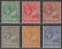 Antigua 1921-29 King George V Part Set to 2½ Mint with tone spots