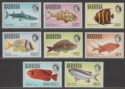 Barbuda 1969-70 QEII Fish Part Set to $5 Mint SG20a-27 UMM