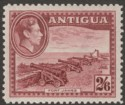Antigua 1938 KGVI 2sh6d Brown-Purple Mint SG106