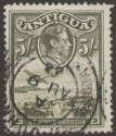Antigua 1944 KGVI 5sh Grey-Olive Used SG107