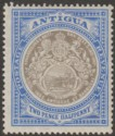Antigua 1907 KEVII Seal 2½d Grey-Black and Blue Chalky Mint SG34a