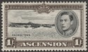 Ascension 1938 KGVI Georgetown 1sh Black and Sepia p13½ Mint SG44