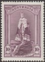 Australia 1937 KGVI Robes 10sh Dull Purple Chalky Paper Mint SG177 cat £50 UMM