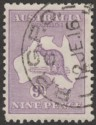 Australia 1915 KGV Roo 9d Violet wmk Pointed Crown Used SG27 cat £48