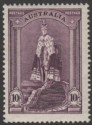 Australia 1948 KGVI Robes 10sh Dull Purple on Ordinary Paper Mint SG177a
