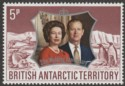 British Antarctic Territory 1972 Silver Wedding 5p watermark Inverted Mint SG42w