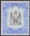 British Central Africa 1897 QV 2sh6d Black and Ultramarine Mint SG48