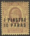 British Levant 1909 KEVII 1pi 10pa on 3d Dull Purple on Orange-Yellow Mint SG17