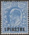 British Levant 1912 KEVII 1pi on 2½d Bright Blue type II Mint SG27