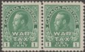 Canada 1915 KGV 1c War Tax Pair Mint SG228