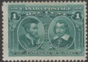 Canada 1908 KEVII Quebec Tercentenary 1c Blue-Green Mint SG189 cat £38