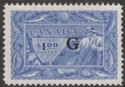 Canada 1951 KGVI Government G Overprint $1 Ultramarine Mint SG O192