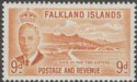 Falkland Islands 1952 KGVI Two Sisters 9d Orange-Yellow Mint SG179