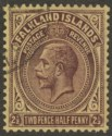Falkland Islands 1923 KGV 2½d Deep Purple on Pale Yellow Used SG77