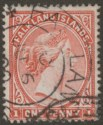 Falkland Islands 1899 QV 1d Pale Red Used SG23