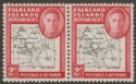 Falkland Islands Dependencies 1946 KGVI 2d w Variety Dot By Oval Mint SG G3d