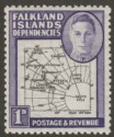 Falkland Islands Dependencies 1946 KGVI 1d w Variety Extra Island Mint SG G2aa