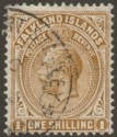 Falkland Islands 1919 KGV 1sh Pale Bistre-Brown Used SG65a c£130 with faults