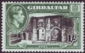 Gibraltar 1938 KGVI 1sh Black and Green Perf 13½ Mint SG127a
