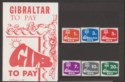 Gibraltar QEII 1976 Postage Due Mint Set in Presentation Pack SG D7-D12