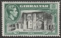 Gibraltar 1938 KGVI 1sh Black and Green Perf 14 Mint SG127