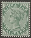 Gibraltar 1898 QV ½d Grey-Green Mint SG39