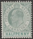 Gibraltar 1903 KEVII ½d Grey-Green and Green Mint SG46