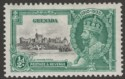Grenada 1935 KGV Silver Jubilee ½d Mint w variety Kite and Horizontal Log SG145l