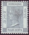 Hong Kong 1896 QV 4c Slate-Grey Mint SG34