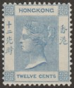 Hong Kong 1901 QV 12c Blue Mint SG60