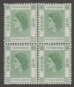 Hong Kong 1954 QEII 15c Green Mint Block SG180
