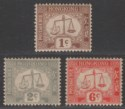 Hong Kong 1946-56 Postage Due wmk Sideways Selection to 6c Mint toned gum