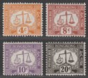 Hong Kong 1938 KGV Postage Due wmk Sideways Part Set to 20c UM Mint cat £46 MNH