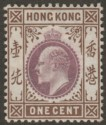 Hong Kong 1903 KEVII 1c Dull Purple and Brown Mint SG62
