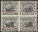 Indian States Jaipur 1937 Investiture Service 4a Block of Four Mint SG O16
