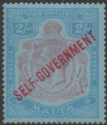 Malta 1922 KGV Self Government 2sh Purple + Blue on Blue wmk Script Unused SG120