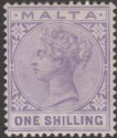 Malta 1885 Queen Victoria 1sh Violet Mint SG28 cat £50
