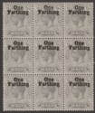 Malta 1922 King George V ¼d on 2d Grey Surcharge Block of 9 Mint SG122