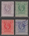 Malta 1925 King George V Revenue ½d, 1d, 3d, 6d Used / Unused