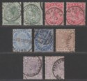 Malta 1885-90 Queen Victoria Part Set to 1sh with Shades Used