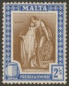 Malta 1922 KGV Figure 2sh Brown and Blue Mint SG135