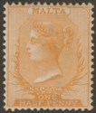Malta 1882 Queen Victoria wmk CA ½d Red-Orange Mint SG19 cat £18