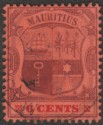 Mauritius 1904 KEVII 6c Chalky wmk Multi CA Inverted Used SG168a var unlisted