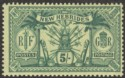 New Hebrides 1911 KGV Weapons and Idols 5f Green on Yellow Mint SG28
