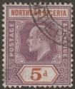 Northern Nigeria 1905 KEVII 5d Purple and Chestnut on Ordinary Paper Used SG24