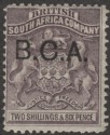 British Central Africa 1891 QV BCA Opt on BSAC 2sh6d Grey-Purple Mint SG9
